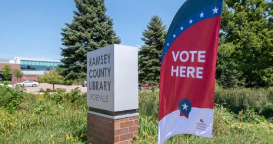 Early Voting location at Ramsey County Library - Roseville.