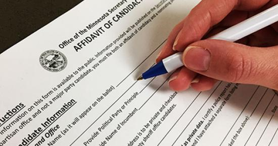 Person completing Affidavit of Candidacy