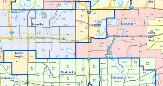 Illustration of a precinct map