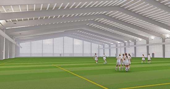Rendering of TCO Fieldhouse interior