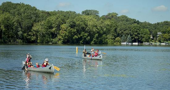 Canoeing at Snail Lake