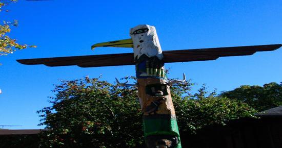 Boys Totem Town pole