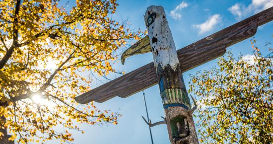 Totem pole at Boys Totem Town