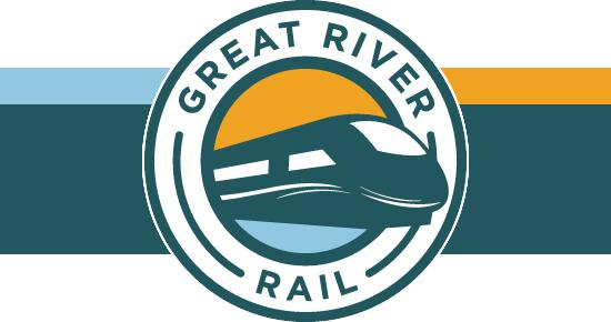 logo for great river rail commission
