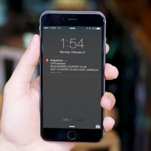 PulsePoint Respond CPR alert on iPhone lock screen