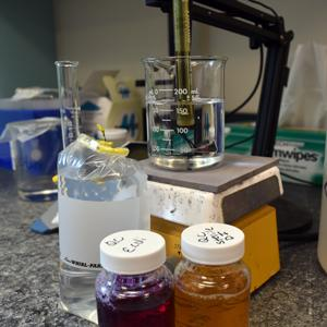 Well water test samples