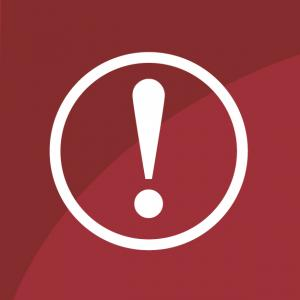 Alert icon - red exclamation point