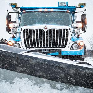 Front of snow plow