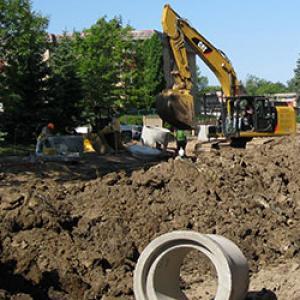 Randolph Avenue road construction in 2015