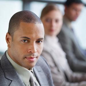 Job seeker in suit
